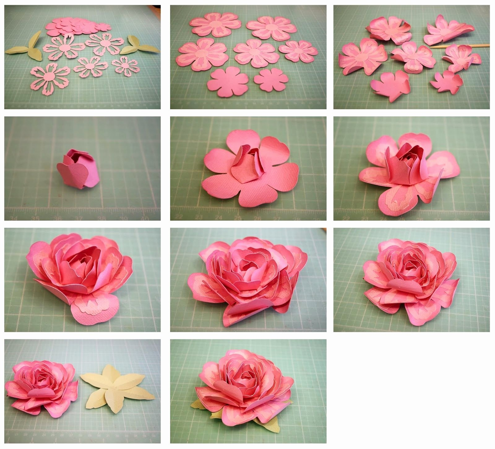 3d Paper Flower Template Elegant Instructions for 3d Layered Rose From the Sil Store