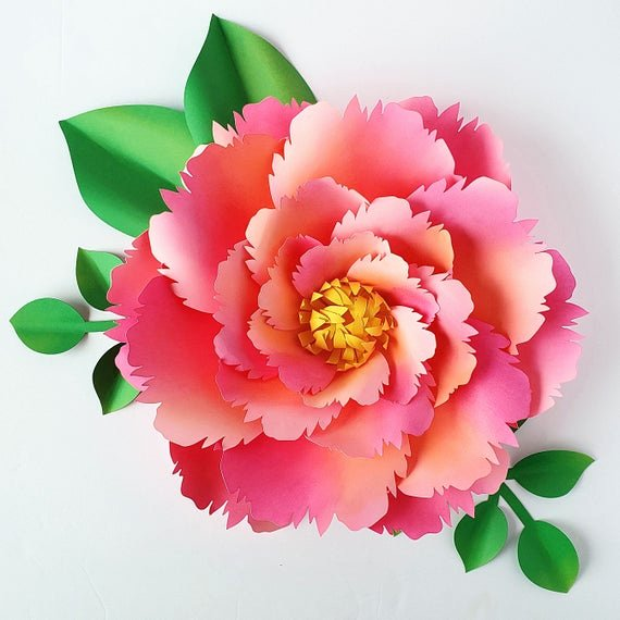 3d Paper Flower Template New Easy Paper Flower Tutorial Paper Flower Templates Diy