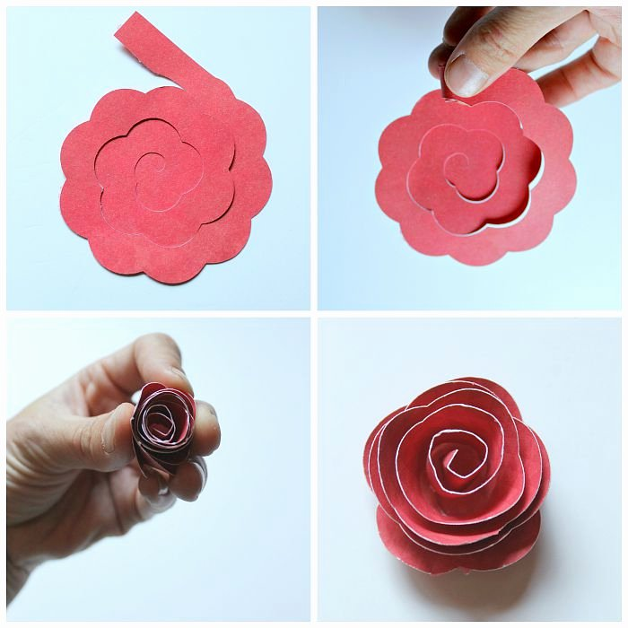 3d Paper Flower Template New Home Wall Art In 3d Flower Shadowbox the Love Nerds