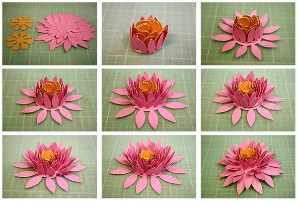 3d Paper Flower Template Unique Bits Of Paper 3d Paper Flowers Day Three