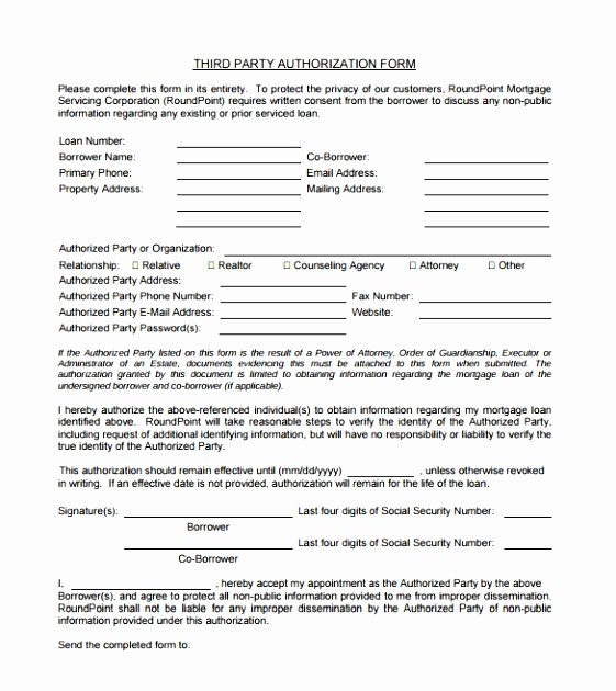 3rd Party Authorization Letter Fresh 8 Third Party Consent form Template Uytpa