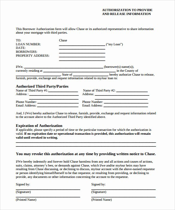3rd Party Authorization Letter Inspirational Sample Third Party Authorization Letter – 8 Free