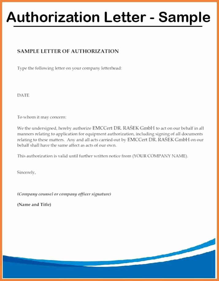 3rd Party Authorization Letter Lovely Authorization Letter