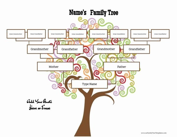 4 Generation Family Tree Template Best Of Family Tree Maker Family Tree Templates