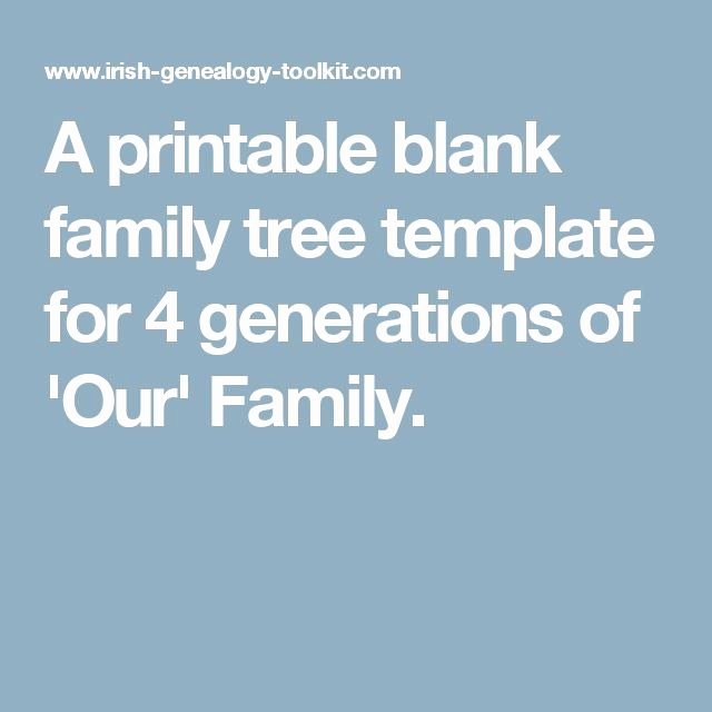 4 Generation Family Tree Template Fresh 1000 Ideas About Family Tree Templates On Pinterest