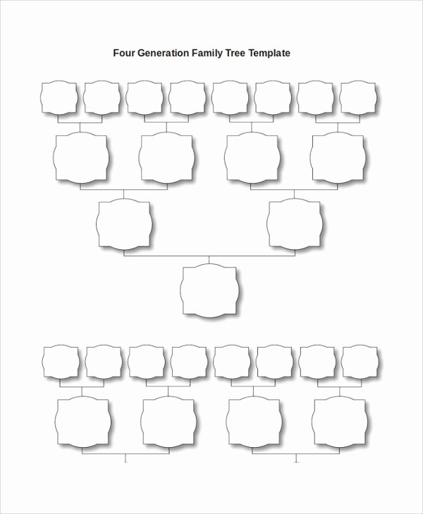 4 Generation Family Tree Template Fresh Sample Blank Family Tree Template 8 Free Documents