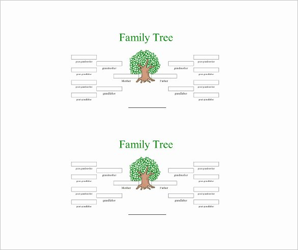 4 Generation Family Tree Template Lovely 4 Generation Family Tree Template – 12 Free Sample
