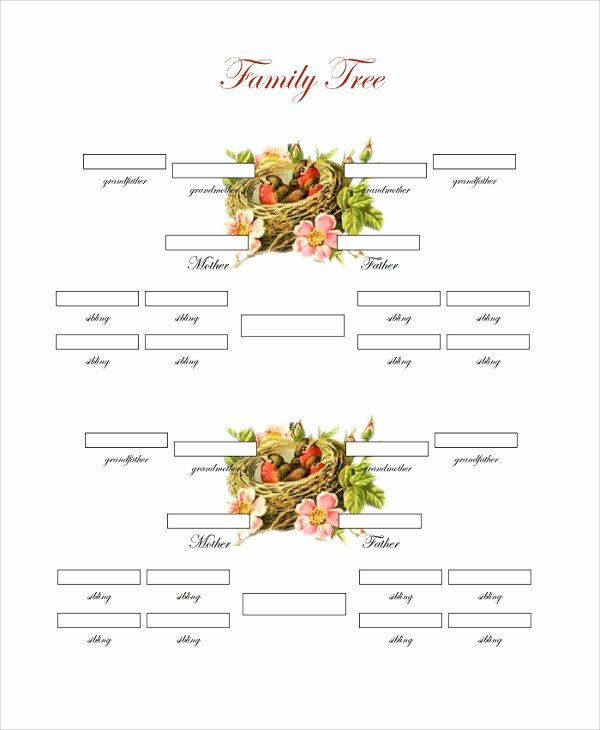 4 Generation Family Tree Template Lovely Sample Family Tree Chart Template 17 Documents In Pdf