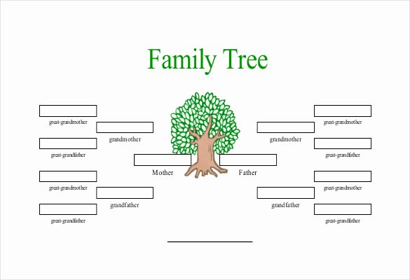 4 Generation Family Tree Template Luxury Simple Family Tree Template 25 Free Word Excel Pdf