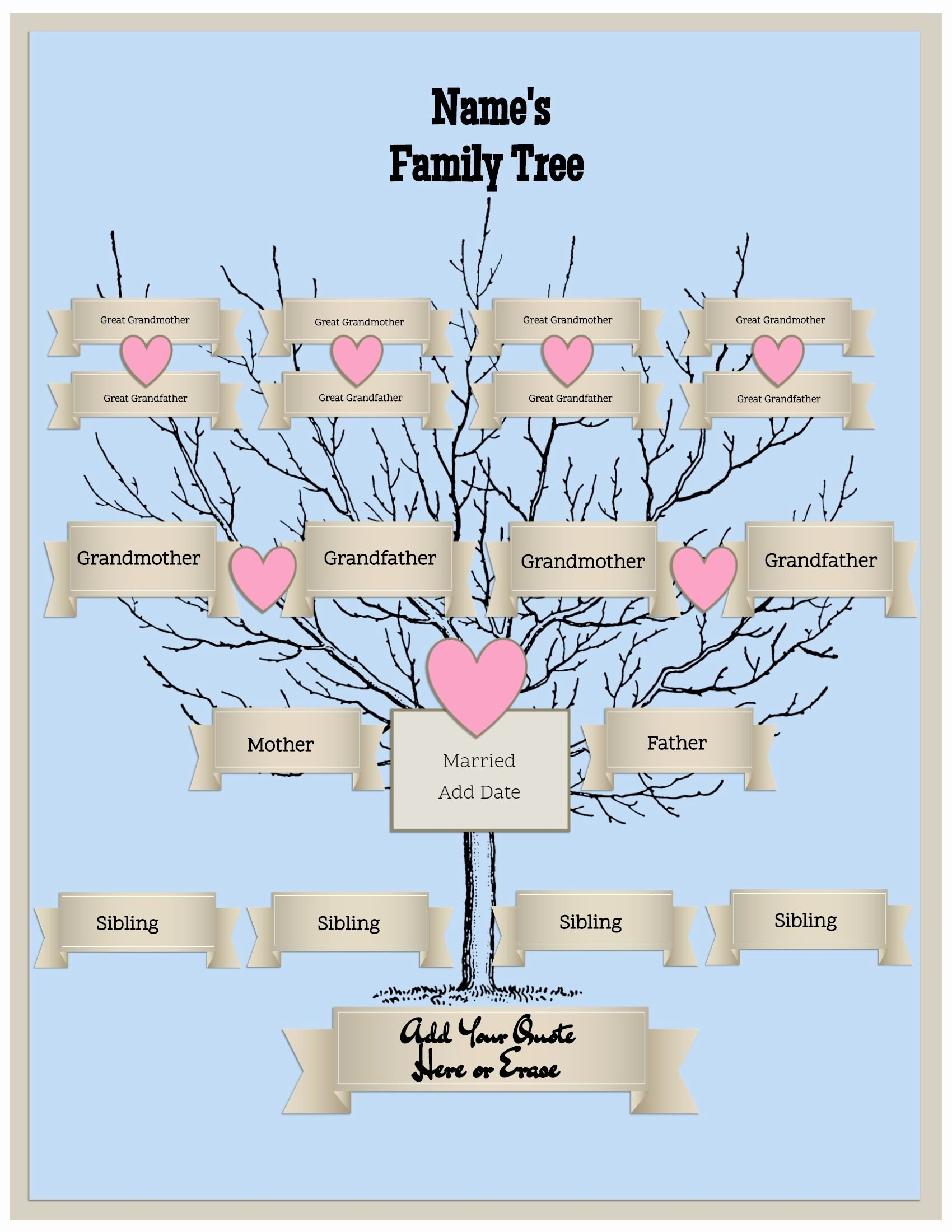 4 Generation Family Tree Template Unique 29 Of 4 Generation Family Tree Template