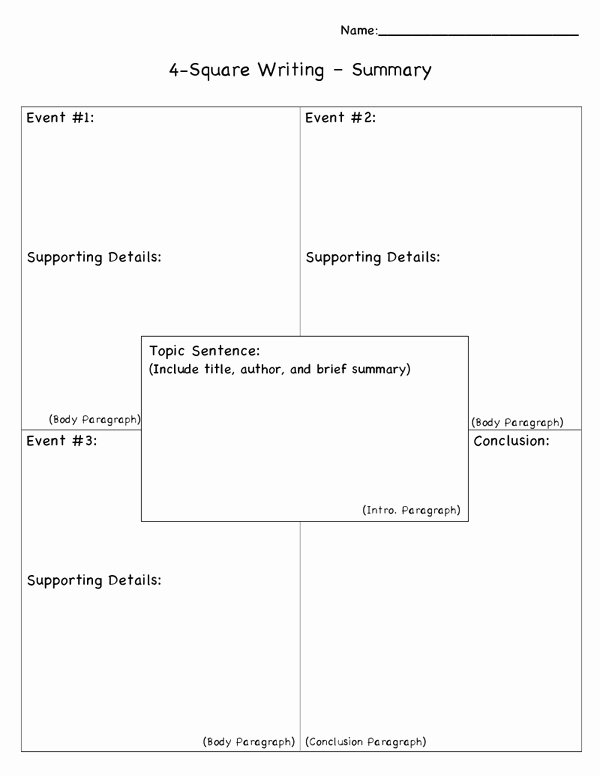 4 Square Writing Template Awesome 1000 Images About Four Square Writing Method On Pinterest