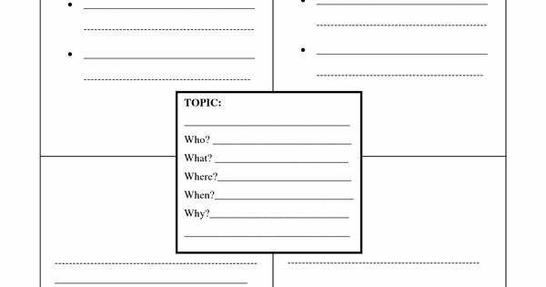 4 Square Writing Template Awesome Four Square Writing Template Printable
