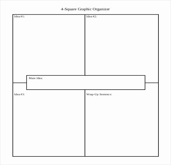 4 Square Writing Template Fresh 12 Four Square Writing Templates – Free Sample Example