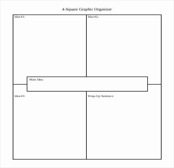 4 Square Writing Template Inspirational Four Square Graphic organizer Printable – Ezzy