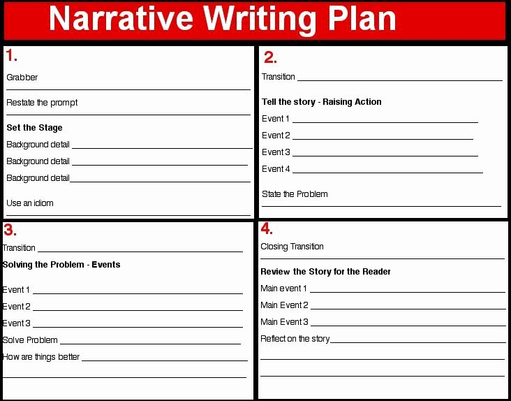 4 Square Writing Template Lovely Narrative Plan 4 Square Writing Language Arts