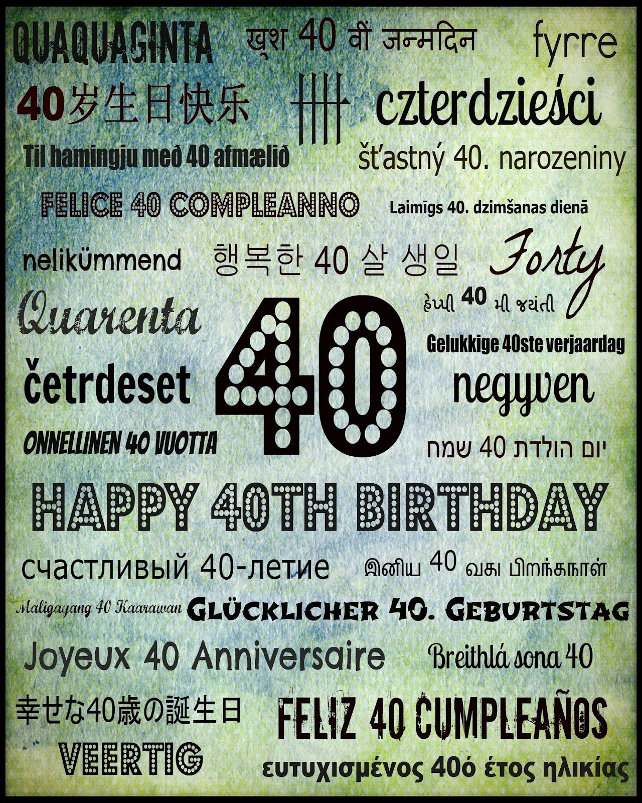40th Birthday Free Printables Best Of Adventures at Greenacre Free 40th Birthday Subway Art