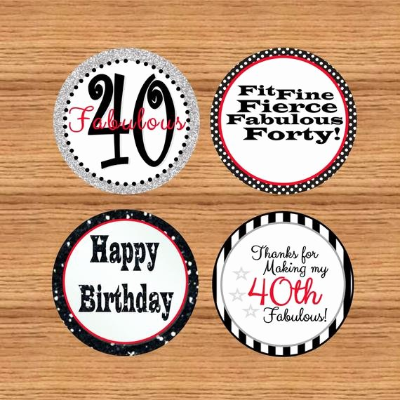 40th Birthday Free Printables Best Of Items Similar to Printable 40th Birthday Tags 40th