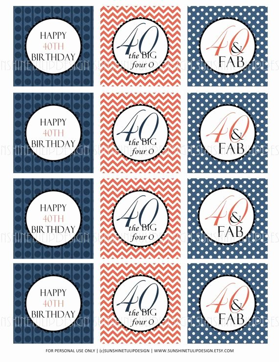 40th Birthday Free Printables Elegant 267 Best Images About Birthday Party Ideas On Pinterest