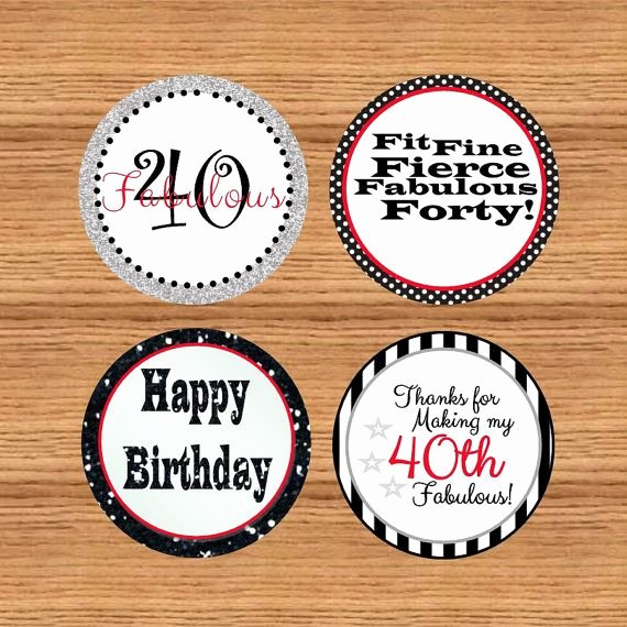 40th Birthday Free Printables Fresh Instant Download Printable 40th Birthday Tags 40th