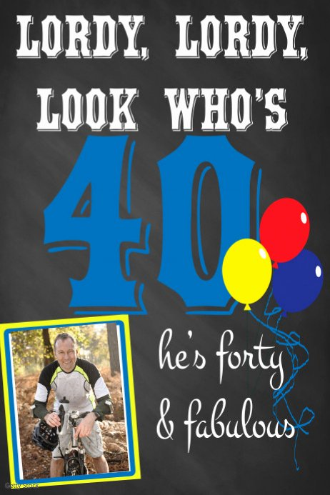 40th Birthday Poster Template Best Of 40th Birthday Poster Template