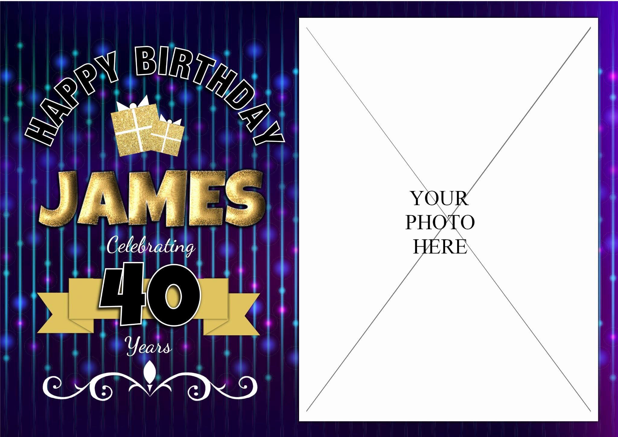 40th Birthday Poster Template Inspirational Personalised Bokeh Happy 18th 21st 30th 40th 50th Birthday