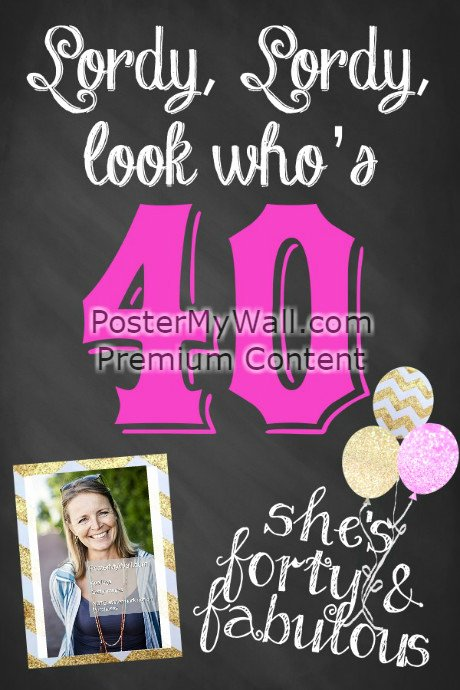 40th Birthday Poster Template New 40th Birthday Poster Template