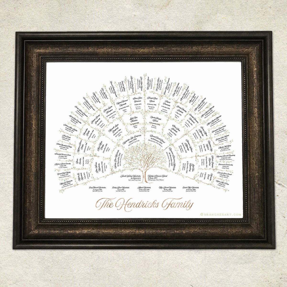5 Generation Family Tree Best Of Watercolor Ancestor Tree – 5 Generations – Branches