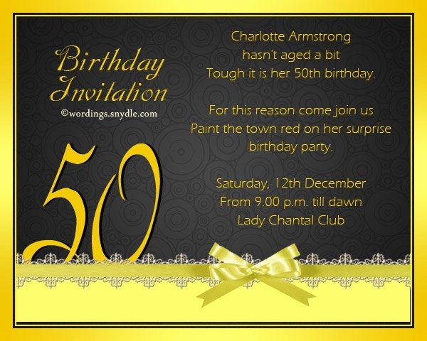 50th Birthday Invitation Wording Samples Awesome 50th Birthday Invitation Wording Samples Wordings and