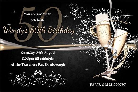 50th Birthday Invitation Wording Samples Beautiful 41 50th Birthday Invitation Templates – Free Sample