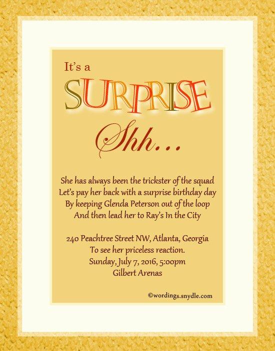 50th Birthday Invitation Wording Samples Elegant Sample Invitations for Surprise 50th Birthday Party