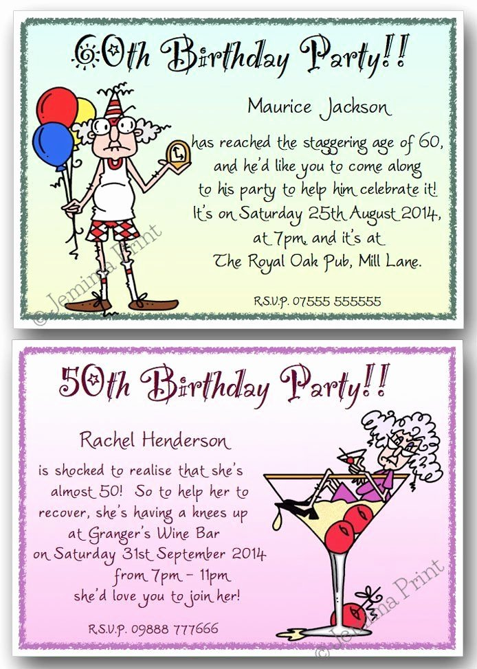 50th Birthday Invitation Wording Samples Inspirational 40th 50th 60th 70th 80th 90th Personalised Birthday Party