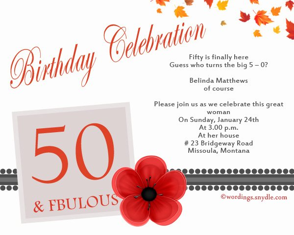 50th Birthday Invitation Wording Samples Inspirational 50th Birthday Invitation Wording Samples Wordings and