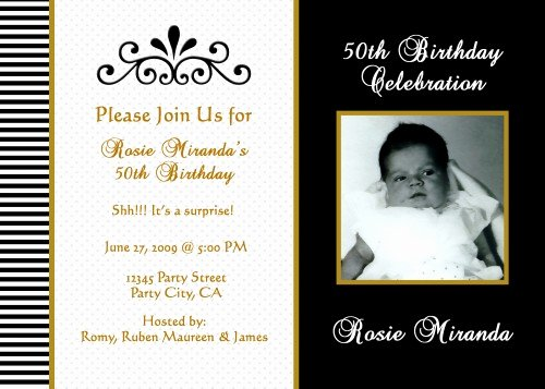 50th Birthday Invitation Wording Samples Inspirational Black and White Birthday Invitations