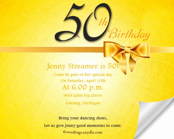 50th Birthday Invitation Wording Samples Lovely 50th Birthday Invitation Wording Samples Wordings and