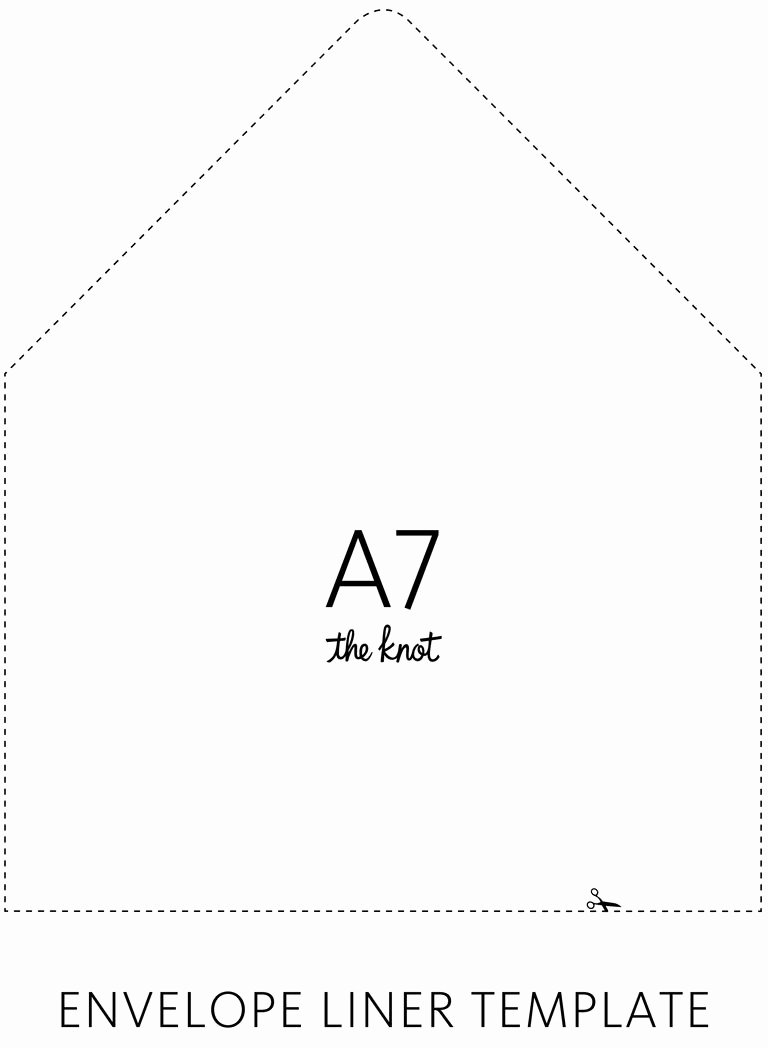 5x7 Envelopes Template Word Best Of the Knot Envelope Liner Template
