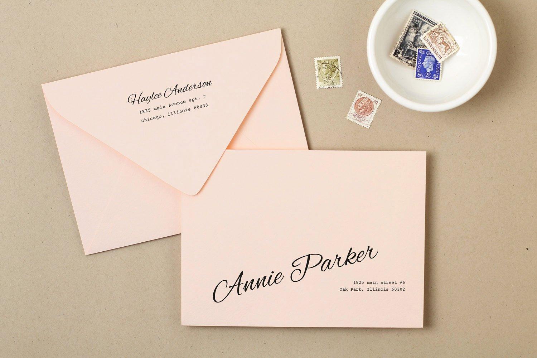 5x7 Envelopes Template Word Luxury Printable Wedding Envelope Template Instant Download Peach