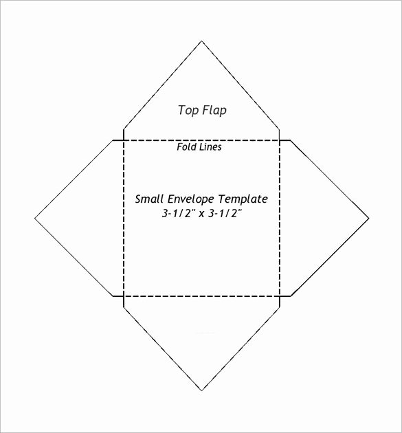 5x7 Envelopes Template Word New Small Envelope Templates – 9 Free Printable Word Pdf
