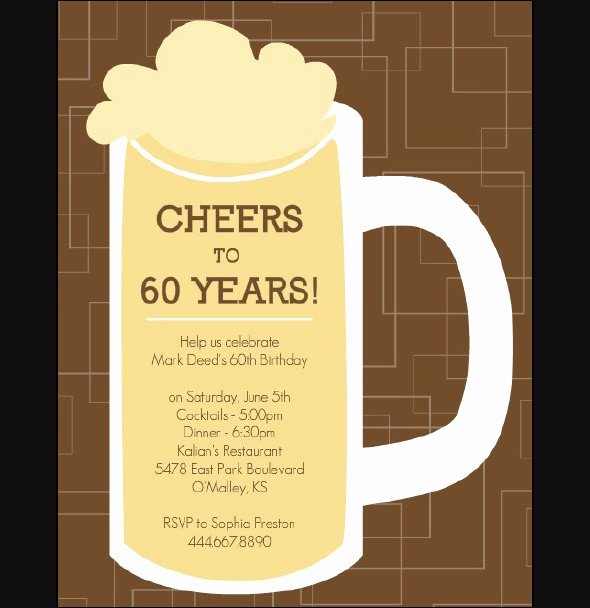 60th Birthday Cards Free Printable Best Of 60th Birthday Invitation Templates