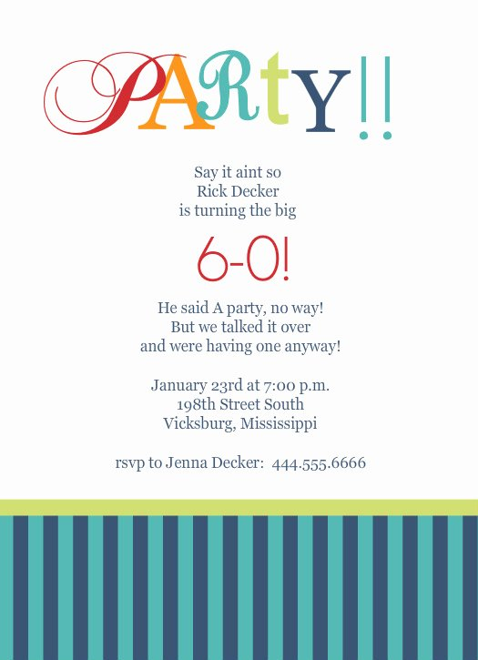 60th Birthday Cards Free Printable Elegant 40th Birthday Ideas Birthday Invitation Templates 60th