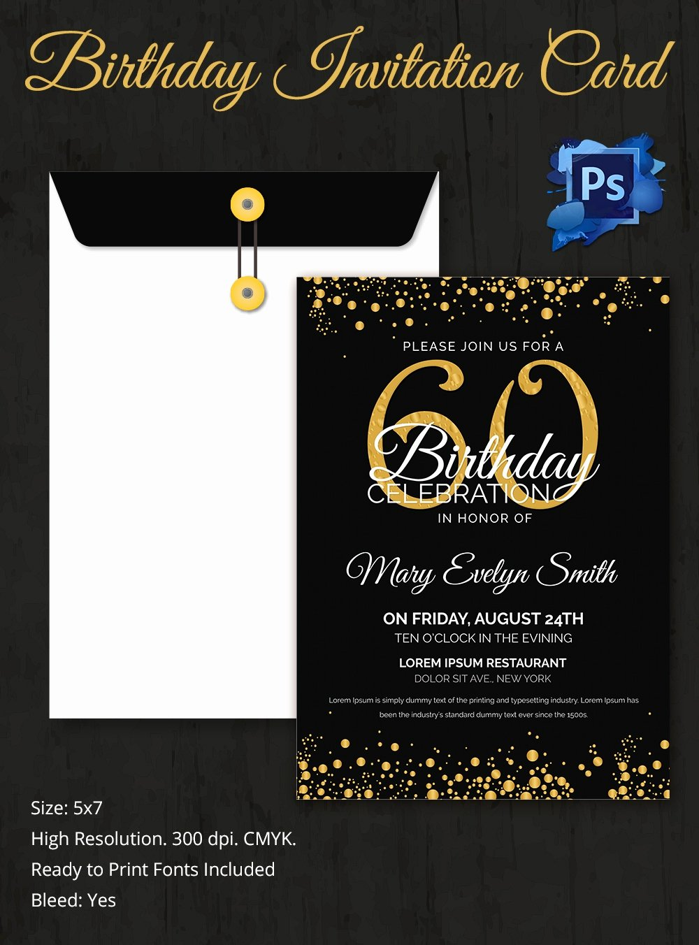 60th Birthday Cards Free Printable New Birthday Invitation Template 32 Free Word Pdf Psd Ai