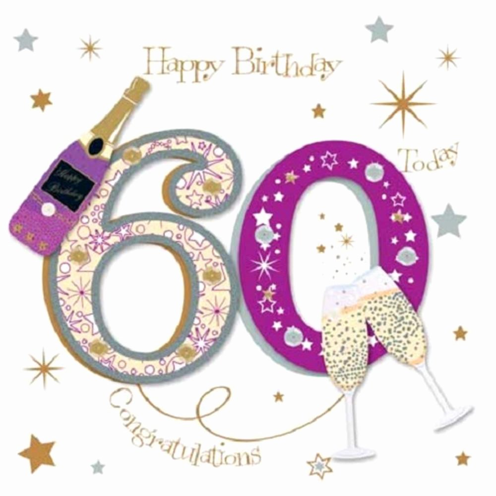 60th Birthday Cards Free Printable New Happy 60th Birthday Greeting Card by Talking