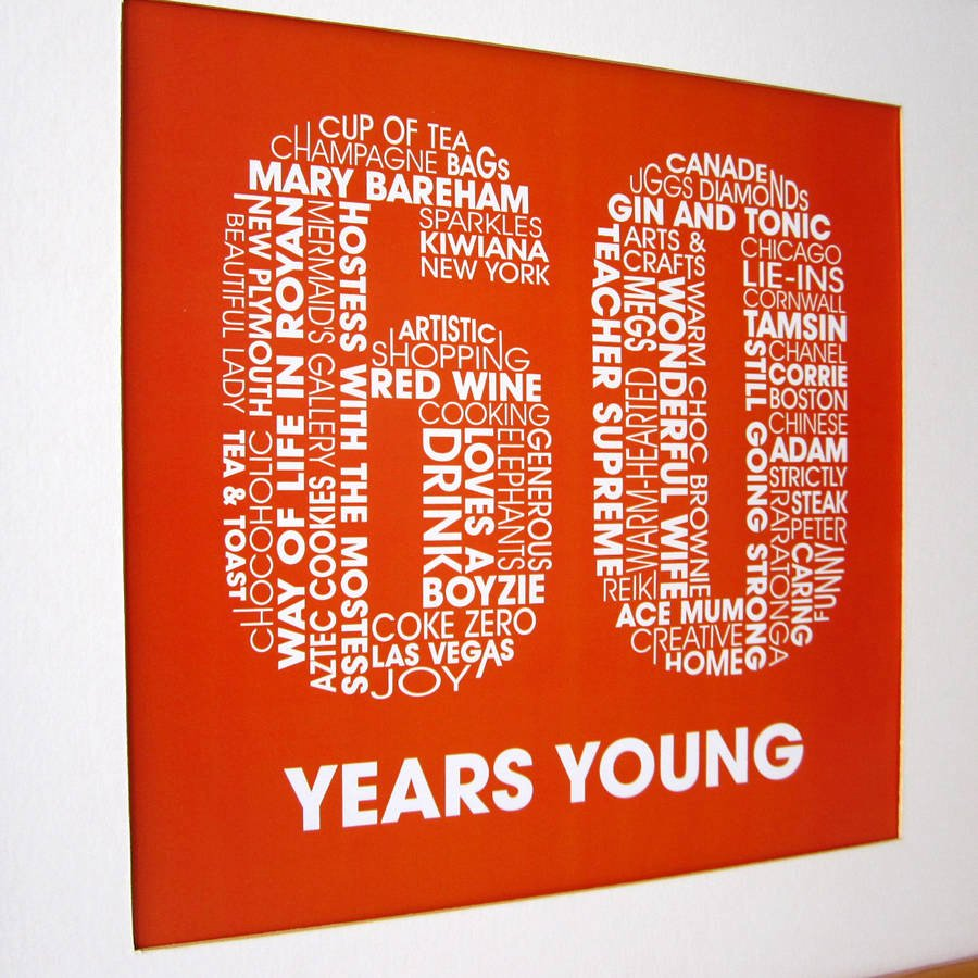 60th Birthday Cards Free Printable New Personalised 60th Birthday Print by Mrs L Cards