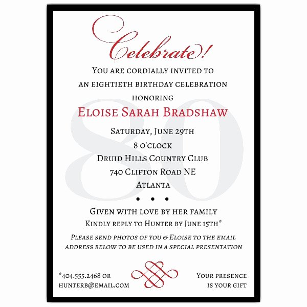 60th Birthday Party Programme Template Luxury Classic 60th Birthday Celebrate Party Invitations