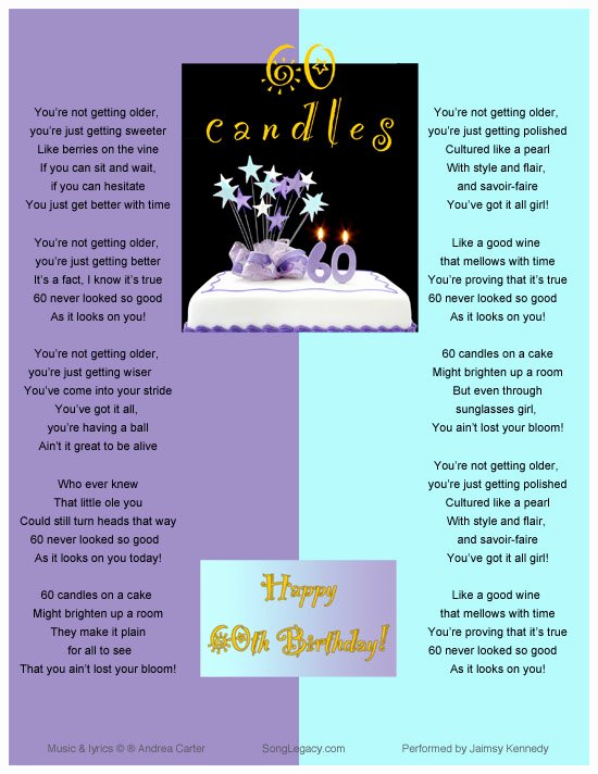 60th Birthday Party Programme Template Luxury Sixty Candles Happy 60th Birthday original 60th