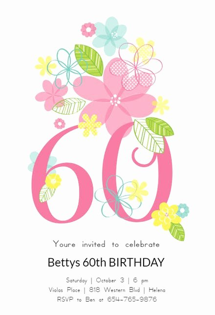 60th Birthday Party Programme Template Unique 60th Birthday Invitation Templates Free