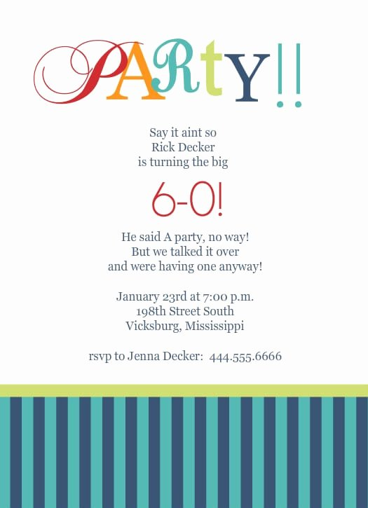 60th Birthday Party Programme Template Unique 60th Birthday Party Invitations Templates Free