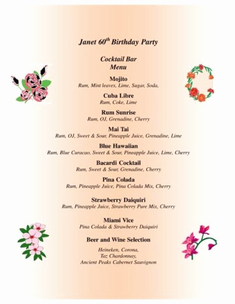 60th Birthday Program Sample Beautiful 28 Of 60th Birthday Party Program Template