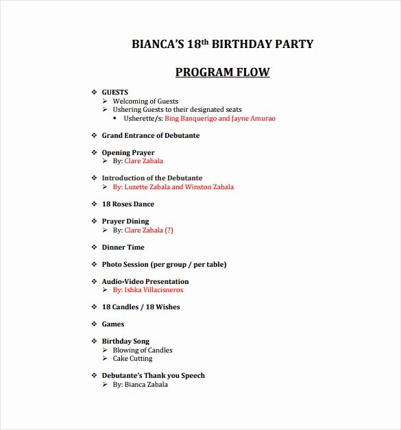 60th Birthday Program Sample Best Of 28 Of 60th Birthday Party Program Template