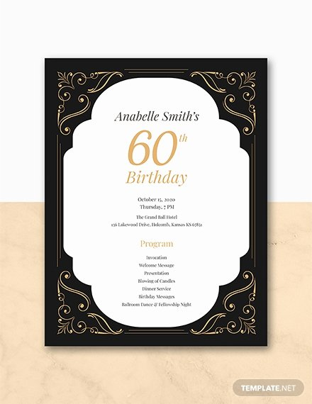60th Birthday Program Sample Unique Free 7th Birthday Program Template Download 31 Program