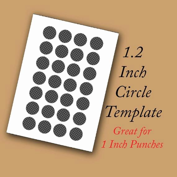 7 Inch Circle Template Fresh Digital Collage Template 1 2 Inch Circle Perfect for 1